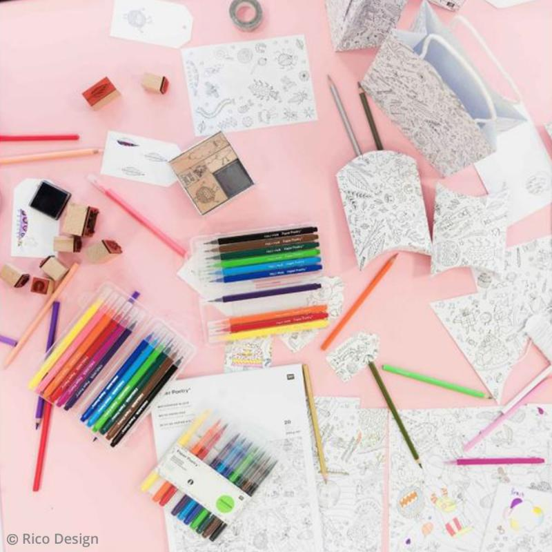 Sets de sacs cadeaux à colorier - 3 pcs - Photo n°4