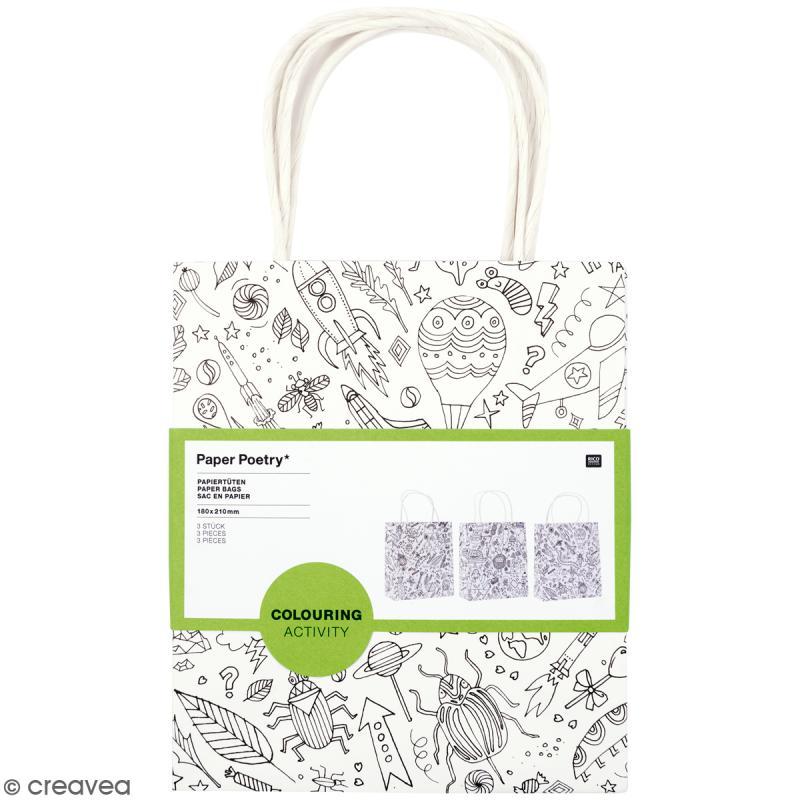 Sets de sacs cadeaux à colorier - 3 pcs - Photo n°1