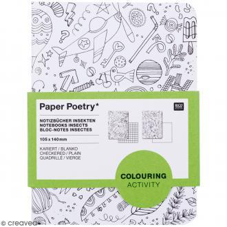 Set de bloc-notes A6 - Insectes - 2 carnets