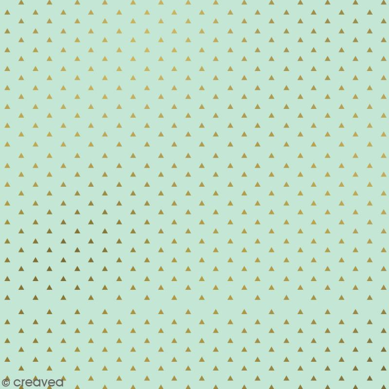 Serviettes en papier - Confettis Dorés - Serviettes Vertes et bleues - 20 pcs - Photo n°2