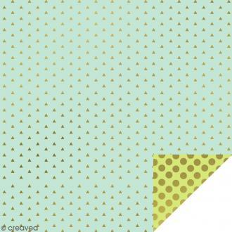 Serviettes en papier - Confettis Dorés - Serviettes Vertes et bleues - 20 pcs