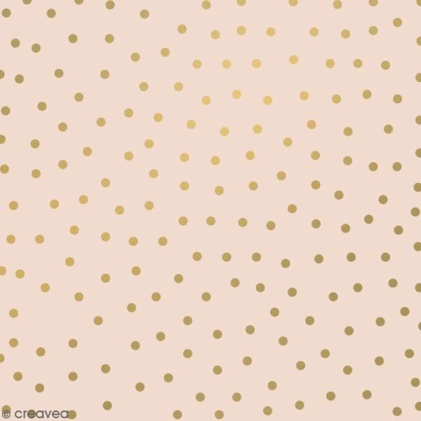Serviettes en papier - Confettis Dorés - Serviettes Grises et roses - 20 pcs - Photo n°3