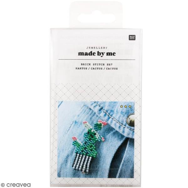Kit brick stitch - Broche Cactus - Photo n°1