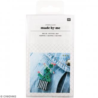 Kit brick stitch - Broche Cactus