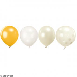 Ballons de baudruche Rico Design YEY - Mix Blanc - 30 cm - 12 pcs