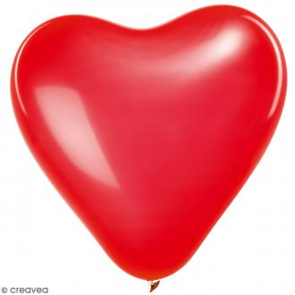 Ballons de baudruche Rico Design YEY - Forme Coeur Rouge - 30 cm - 12 pcs
