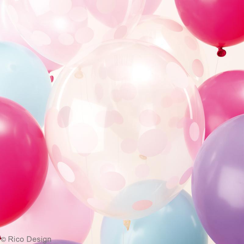 Ballons de baudruche Rico Design YEY - Mix Pastel - 30 cm - 12 pcs - Photo n°2