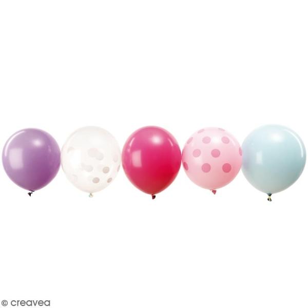 Ballons de baudruche Rico Design YEY - Mix Pastel - 30 cm - 12 pcs - Photo n°1