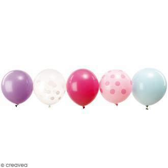 Ballons de baudruche Rico Design YEY - Mix Pastel - 30 cm - 12 pcs