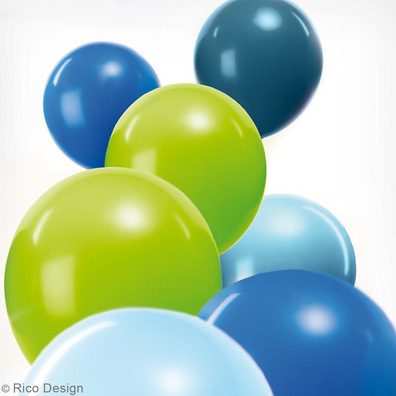 Ballons de baudruche Rico Design YEY - Mix Aqua - 30 cm - 12 pcs - Photo n°2