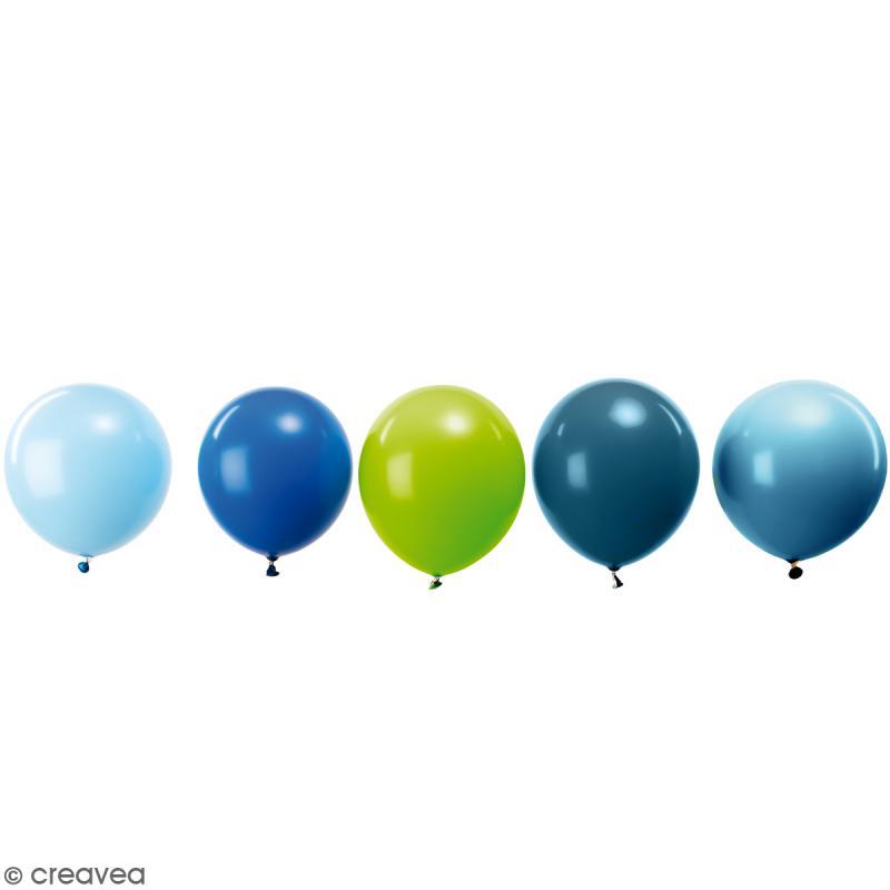 Ballons de baudruche Rico Design YEY - Mix Aqua - 30 cm - 12 pcs - Photo n°1