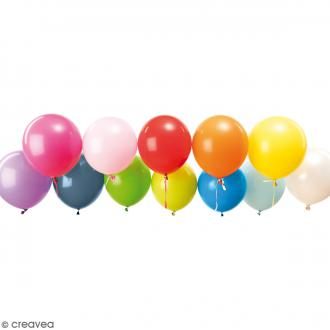 Ballons de baudruche Rico Design YEY - Mix Multicolore - 30 cm - 12 pcs