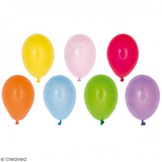 Mini ballons de baudruche Rico Design YEY - Multicolore  - 10 cm - 12 pcs