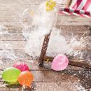 Mini ballons de baudruche Rico Design YEY - Multicolore  - 10 cm - 12 pcs - Photo n°2