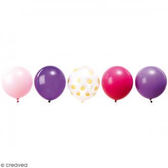 Ballons de baudruche imprimés Rico Design YEY - Princesse - 30 cm - 12 pcs