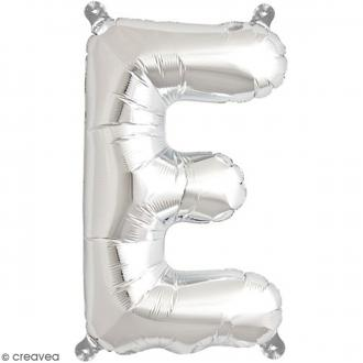 Ballon Aluminium - Lettre E - Argenté - 1 pce