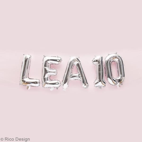 Ballon Aluminium - Lettre F - Argenté - 1 pce - Photo n°2