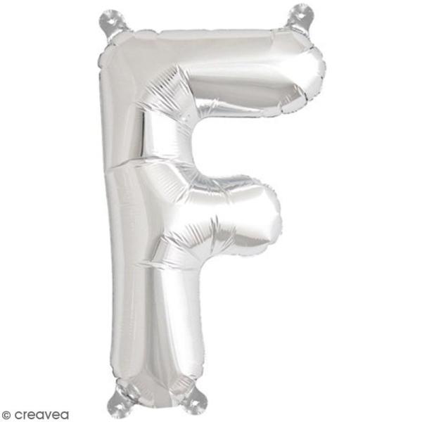 Ballon Aluminium - Lettre F - Argenté - 1 pce - Photo n°1