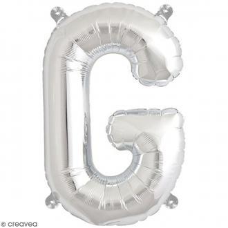 Ballon Aluminium - Lettre G - Argenté - 1 pce