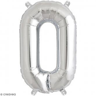 Ballon Aluminium - Lettre O - Argenté - 1 pce