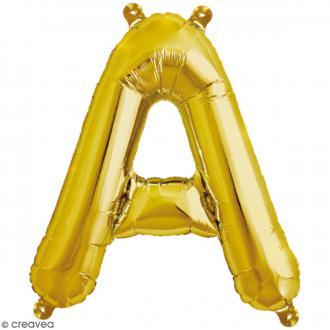 Ballon Aluminium - Lettre A - Doré - 1 pce