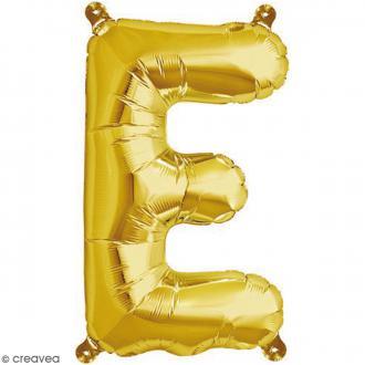 Ballon Aluminium - Lettre E - Doré - 1 pce