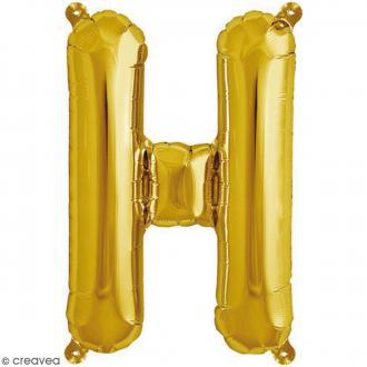 Ballon Aluminium - Lettre H - Doré - 1 pce