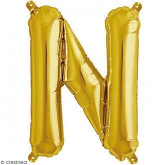 Ballon Aluminium - Lettre N - Doré - 1 pce