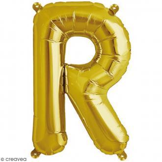 Ballon Aluminium - Lettre R - Doré - 1 pce