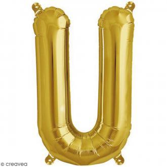 Ballon Aluminium - Lettre U - Doré - 1 pce