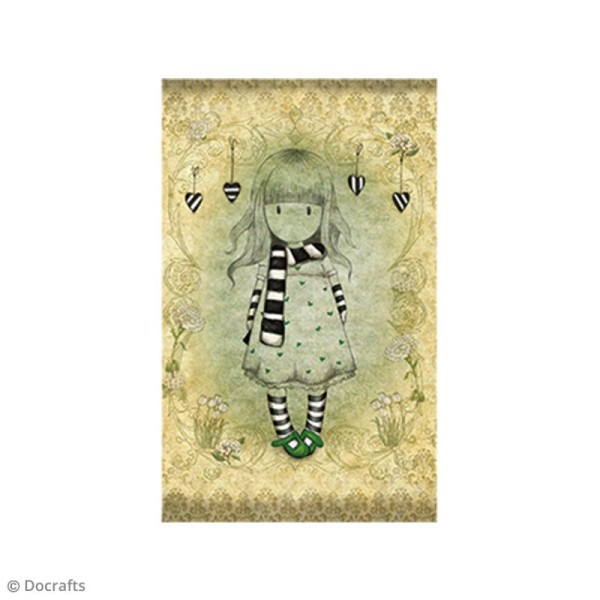Mini tampon cling Gorjuss - N°26 - The Scarf - Photo n°2