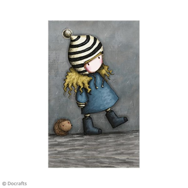 Mini tampon cling Gorjuss - N°35 - The Friendly Hedgehog - Photo n°2