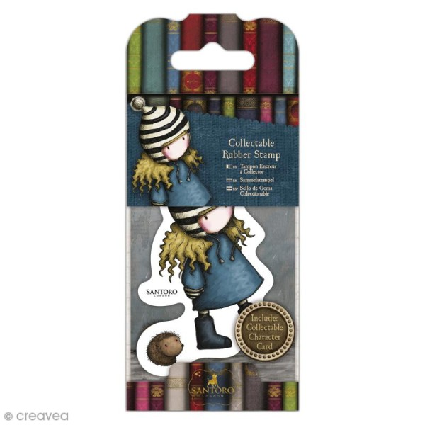 Mini tampon cling Gorjuss - N°35 - The Friendly Hedgehog - Photo n°1