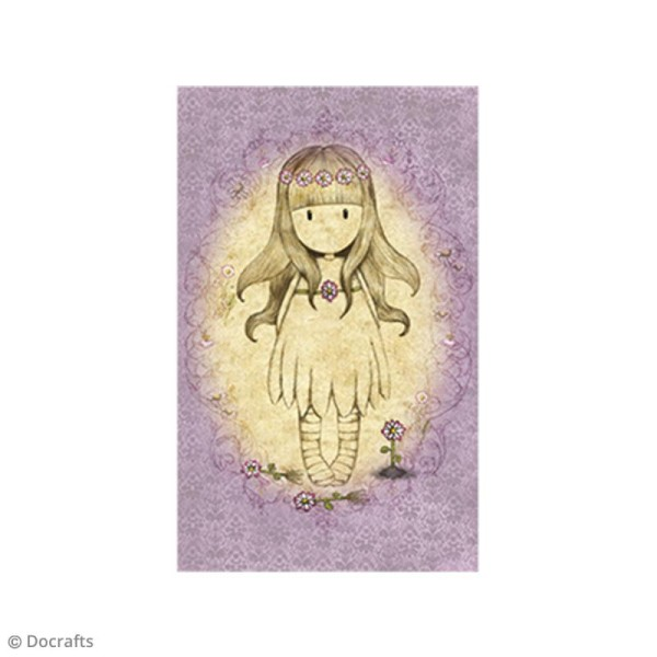 Mini tampon cling Gorjuss - N°25 - Oops A Daisy - Photo n°2