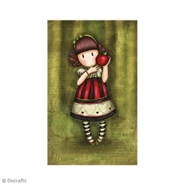 Mini tampon cling Gorjuss - N°37 - Dear Apple - Photo n°2