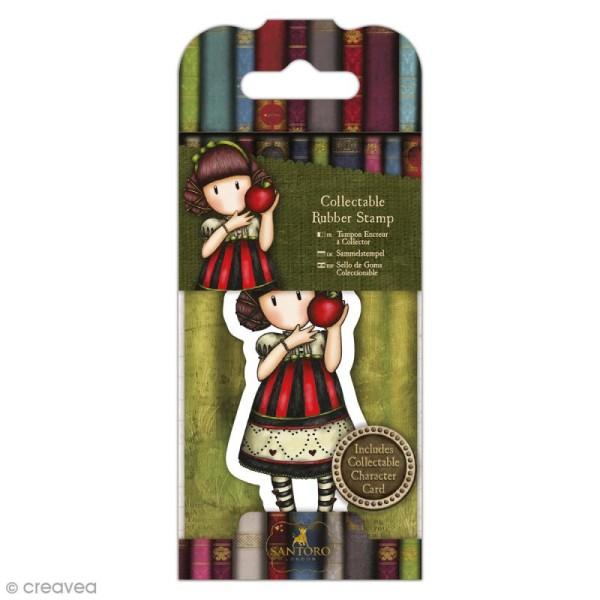 Mini tampon cling Gorjuss - N°37 - Dear Apple - Photo n°1
