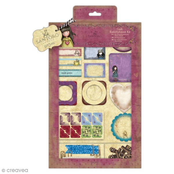 Kit embellissements Gorjuss Santoro - 111 pcs - Photo n°1