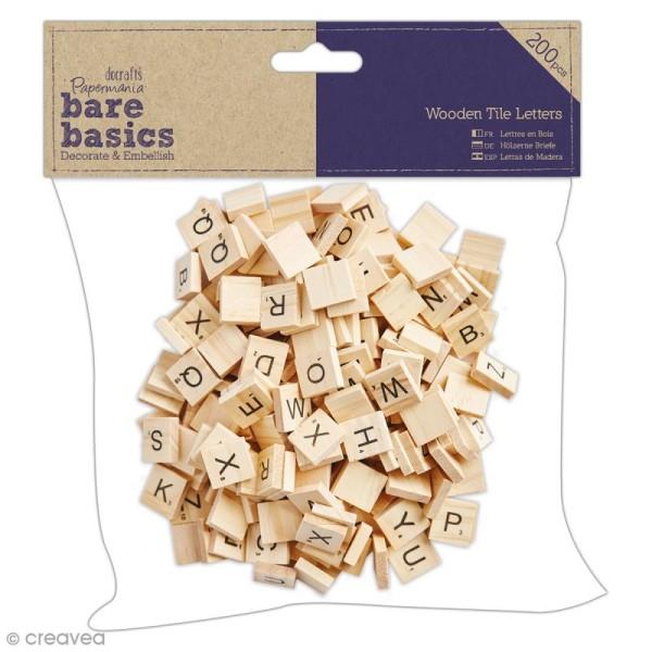 Lettres Carrées Bois - Bare Basics - 200 pcs - Photo n°1