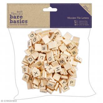Lettres Carrées Bois - Bare Basics - 200 pcs