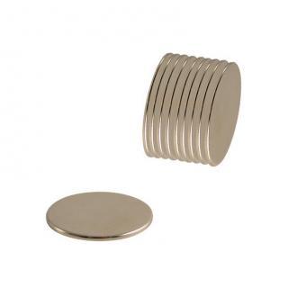 Aimants néodyme - diamètre 5 mm - Epaisseur 1 mm - 10 pcs