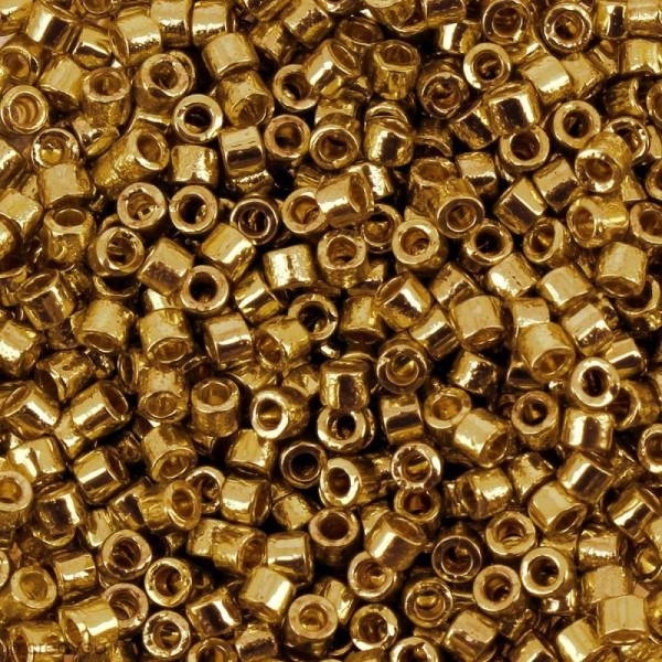 Perles Miyuki Delica 11/0 - DB0410 - Galvanised Yellow Gold Dyed - 5g - Photo n°1