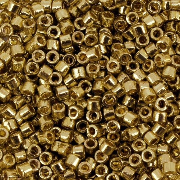 Perles Miyuki Delica 11/0 - DB1832 - Duracoat Galvanised Gold - 5g - Photo n°1