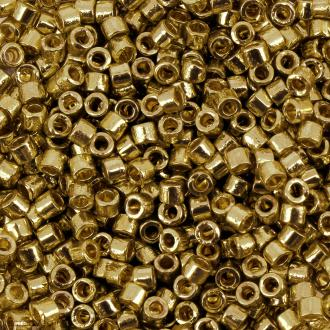 Perles Miyuki Delica 11/0 - DB1832 - Duracoat Galvanised Gold - 5g