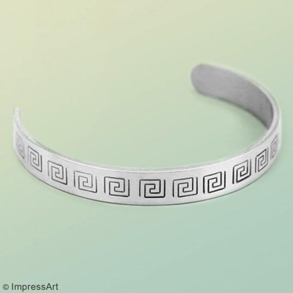 Bracelets à graver et à plier - 15,3 x 1 cm - 10 pcs - Photo n°2