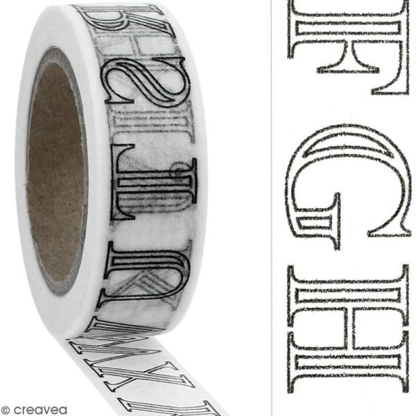 Masking tape Lettres de l'alphabet à colorier - 15 mm x 10 m - Photo n°2