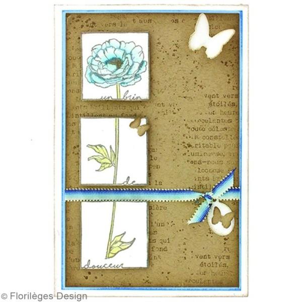 Tampon Bois Fleur brin de douceur - 4 x 15 cm - Photo n°2