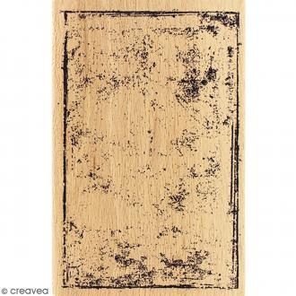 Tampon Bois Carte grunge - 10 x 15 cm