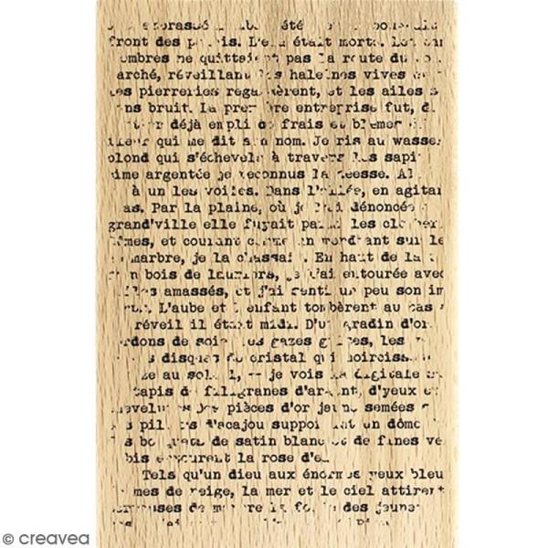 Tampon Bois Texte grunge - 10 x 15 cm - Photo n°1
