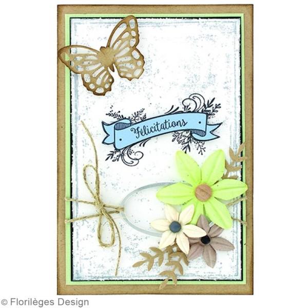 Tampon Bois Bannière Félicitations - 5 x 7 cm - Photo n°2