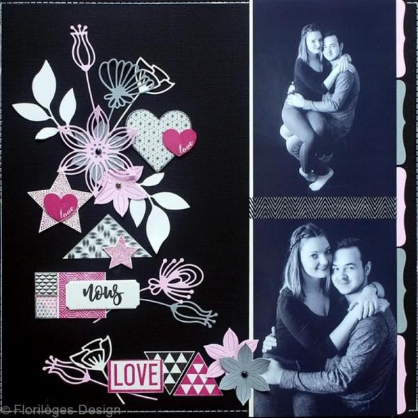 Tampon Bois Mini coeur Love - 3 x 3 cm - Photo n°2